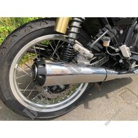 SCORPION SLIP ON SILENCERS (PAIR) for Royal Enfield INTERCEPTOR 650 TWIN EURO 4
