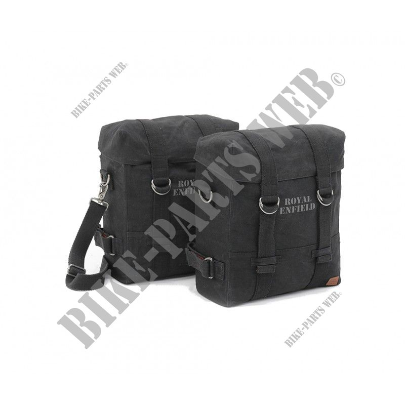 SOFT PANNIERS BLACK for Royal Enfield CLASSIC 500 EURO 4