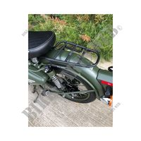 REAR RACK BLACK for Royal Enfield CLASSIC 500 GUNMETAL GREY