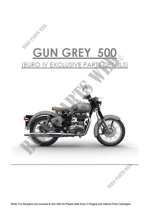 SPECIFIC PARTS for Royal Enfield CLASSIC 500 GUNMETAL GREY